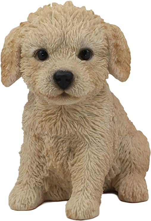 LABRADOODLE BLACK TINY ONES DOG Figurine Statue Pet Lovers Gift Resin