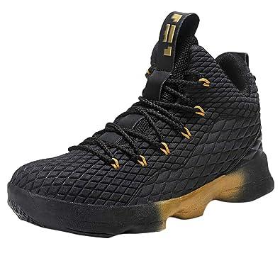 9d395d8703d Lazzboy Men Basketball Shoes Non-Slip Bootie Running Sports Sneakers Cross  Trainer(9 UK