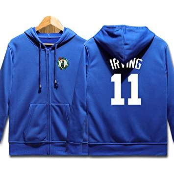 Boston Celtics Sudaderas de Baloncesto, Hombre Irving #11 Hip Hop Sudadera con capucha