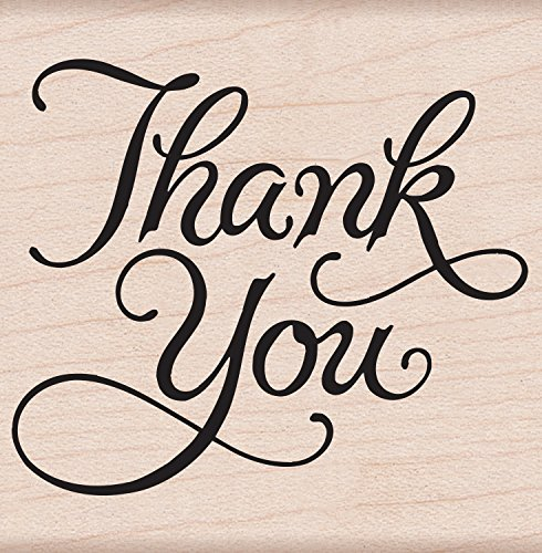 Hero Arts F366 Mounted Rubber Stamp, Woodblock Stamp - Thank You
