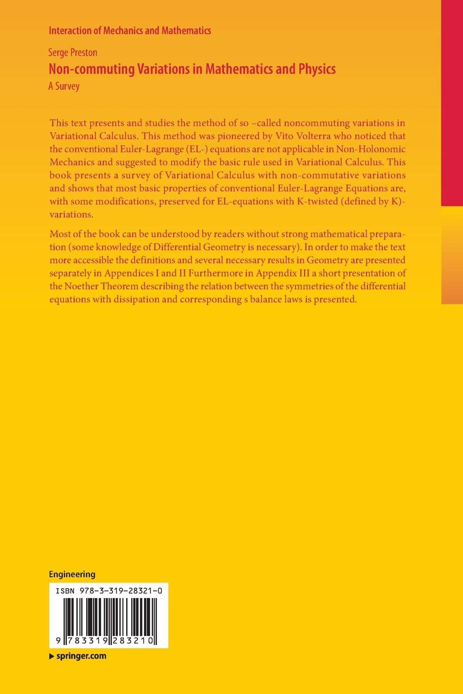 Non-commuting Variations in Mathematics and Physics: A Survey