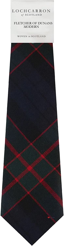 Gents Neck Tie Fletcher of Dunans Modern Tartan Lightweight Scottish Clan Tie