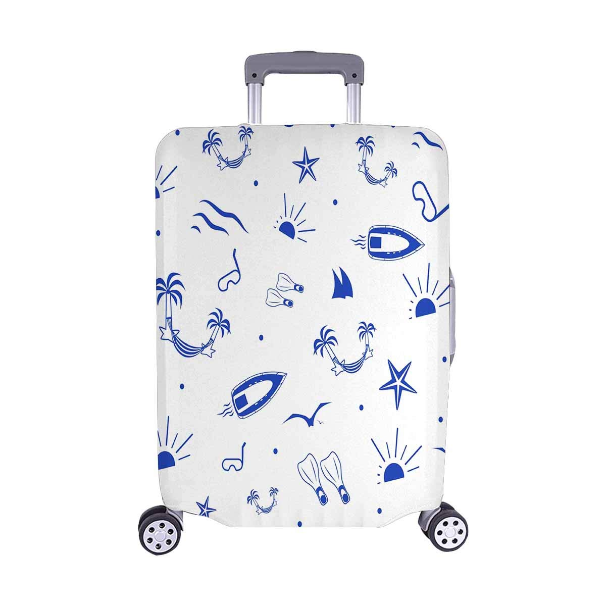 InterestPrint Luggage Protector Suitcase Cover Fit 22-25 Inch Luggage Summer Vacation, Travel, Sea Cruise