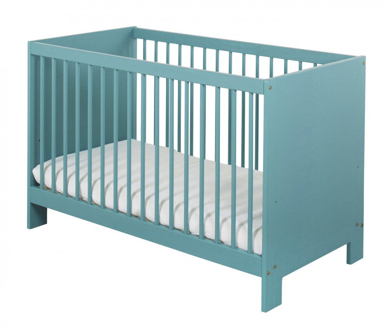 BioKinder 24005 Niklas Babybett 60x120 cm Kiefer blau lasiert