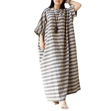 8a9e1516b5e BELLEFILLES Oversized Striped Maxi Dress