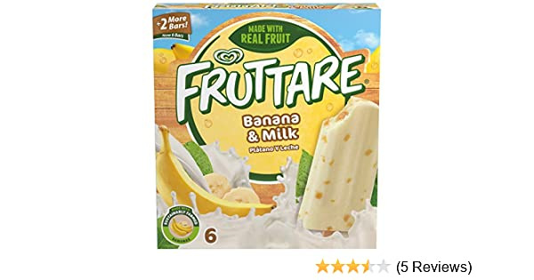 Fruttare, Frozen Fruit Bar, Banana and Milk 6 Count (Frozen): Amazon.com: Grocery & Gourmet Food