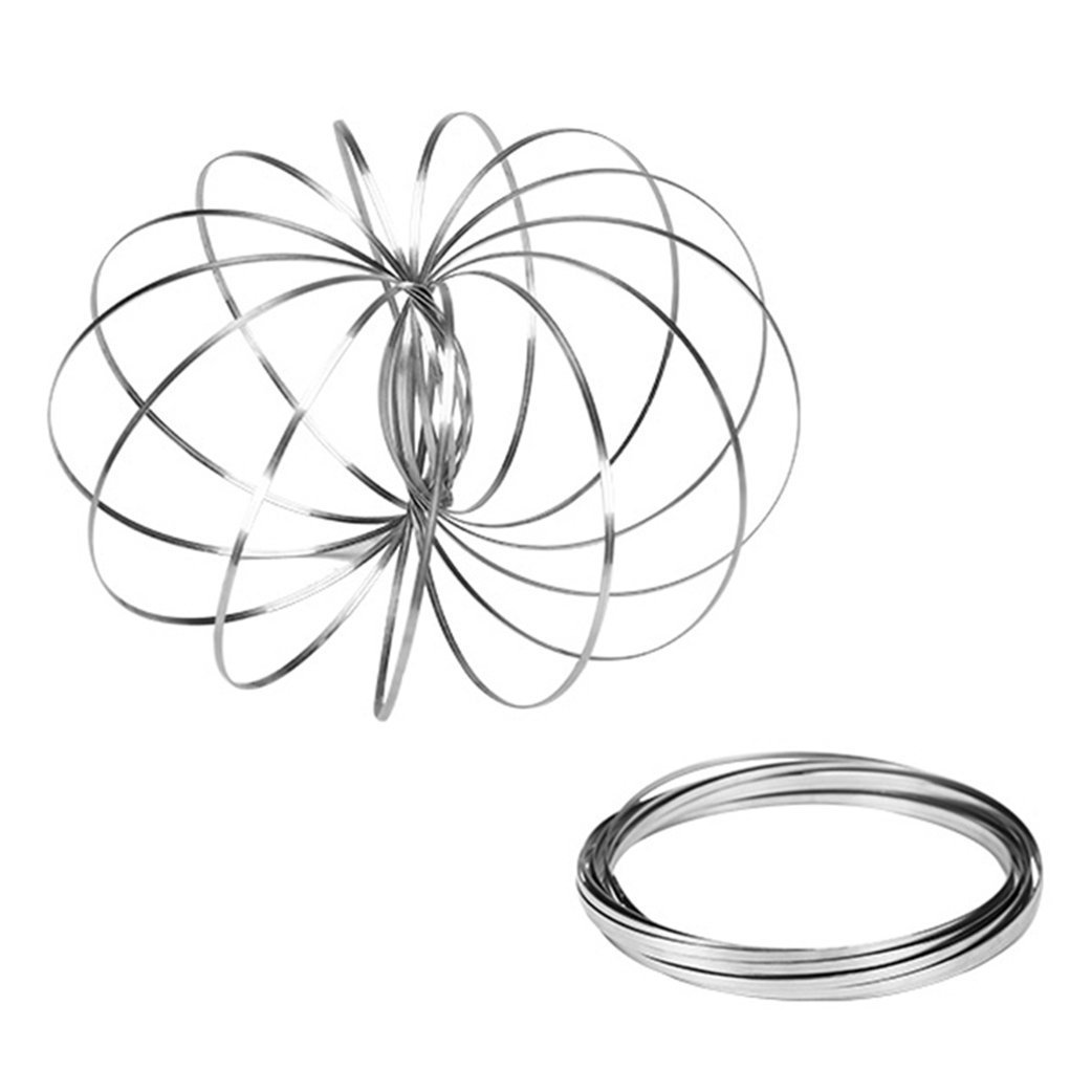 Magic Ring/Flow Ring Kinetic 3D Spring Toy Sculpture Ring Game Toy For Kids Boys And Girls