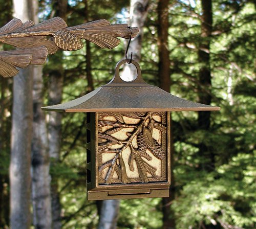 Whitehall Products Pinecone Suet Feeder, Copper Verdi