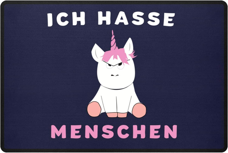 """Fußmatte /""""Ich hasse Menschen/"""" schwarz 40 x 60 cm; 50 x 70 cm lustiger Spruch"""