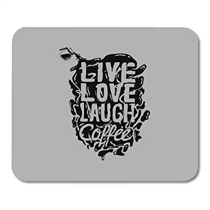 Amazon Nakamela Mouse Pads Calligraphy Quote Design Live Love Magnificent Live Love Laugh Quote
