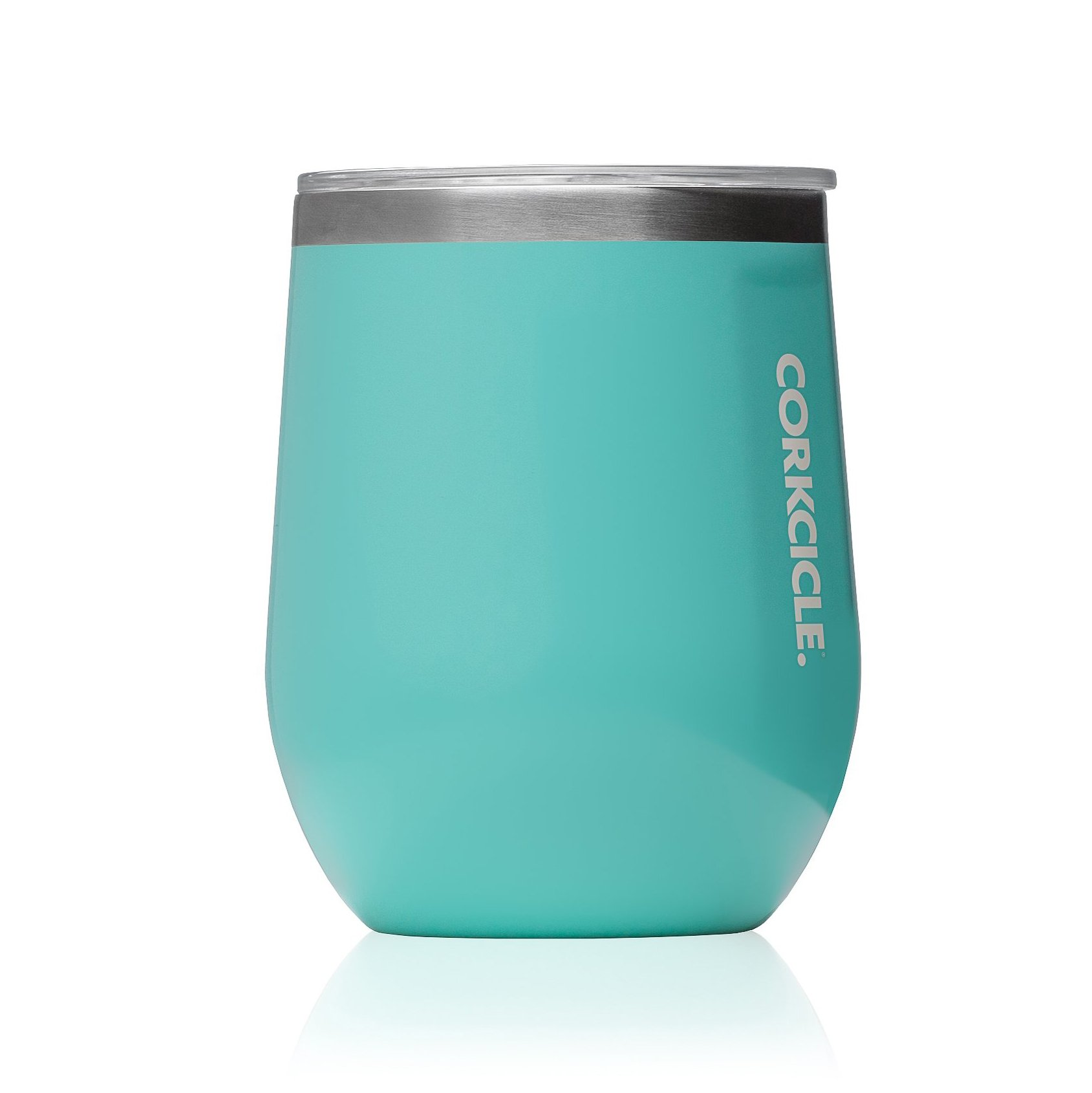 Corkcicle 12 oz Triple-Insulated Stemless Glass (Perfect for Wine) - Gloss Turquoise