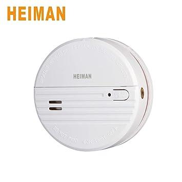 Alarma de incendio inalámbrica HEIMAN para batería reemplazable de red doméstica, alarma de incendio doméstica de cocina Detección de humo Alarm-623PS