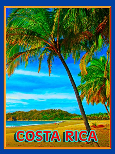 (A SLICE IN TIME COSTA RICA BEACH SURF OCEAN PALM CENTRAL AMERICA Caribbean TRAVEL ADVERTISEMENT Art Collectible Wall Decor POSTER Print. Measures 10 x 13.5 inches)