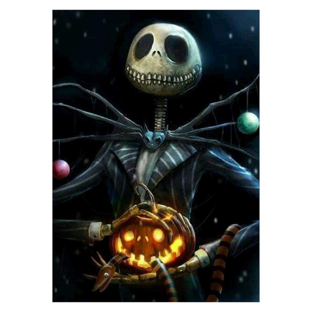 Numkuda Halloween Skull 5D Full Diamond Embroidery Painting DIY Cross Stitch Home Decor