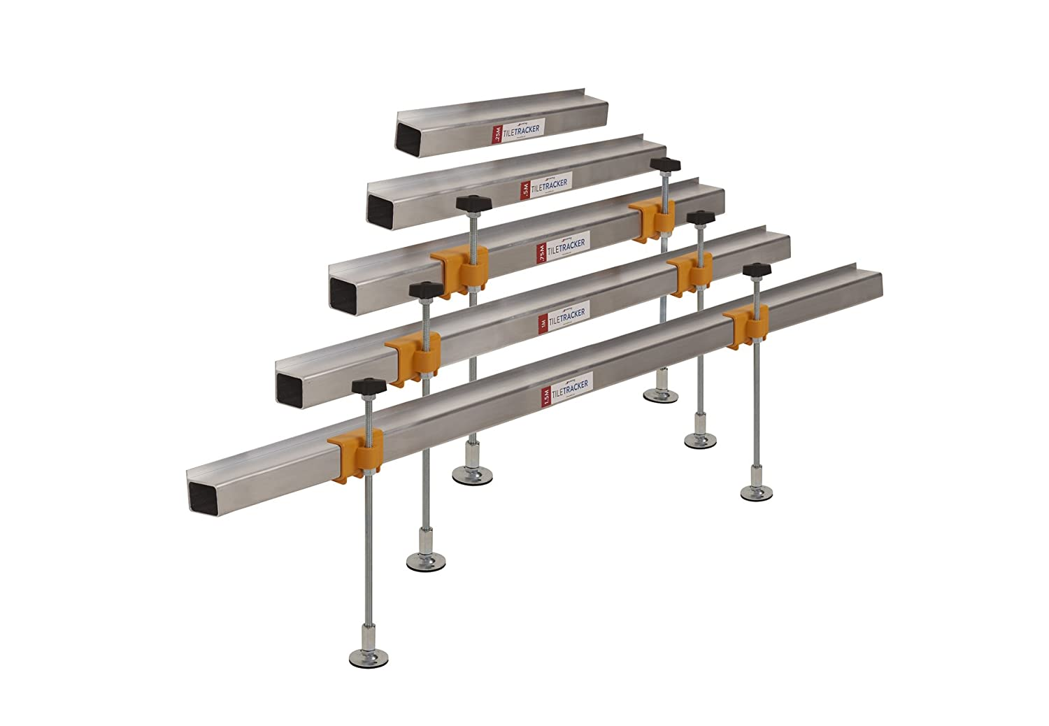 Tiletracker ULTIMATE Free-standing Cables /& Dampproof Membranes Rotating Feet With Anti-slip Pads Ready To Use In 2 Minutes |Avoid Damaging Hidden Pipes Strong Fully Adjustable Wall Tiling Batten Supports set Lightweight Aluminium 300mm Legs |