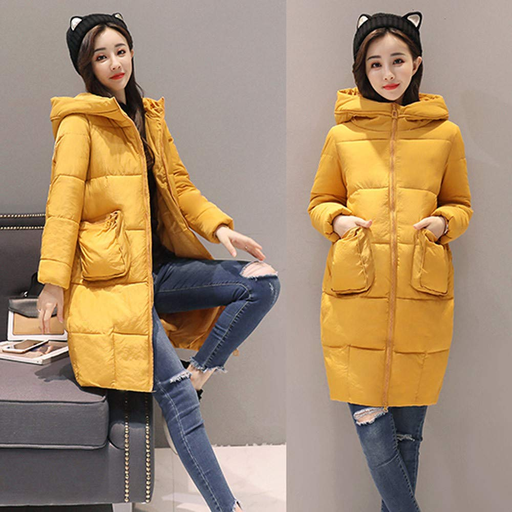 Amazon.com: PIKAqiu33 Women Winter Warm Faux Fur Hooded Thick Warm Slim Jacket Long Overcoat Coat: Clothing