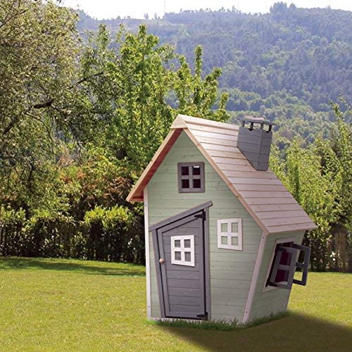 Outdoor Toys. Casita Infantil Fantasy Verde Decorada. Dim: Ext: 120 X 102 X 150 Cm: Amazon.es: Juguetes y juegos