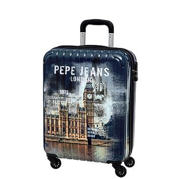 Pepe Jeans Maleta de Cabina Rígida, Diseño London, Color Azul, 38 litros: Amazon.es: Equipaje