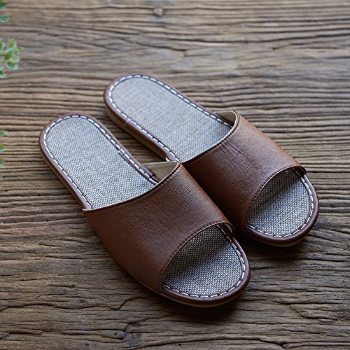 40 Brown linen Summer slippers 41 1E4OnAwq
