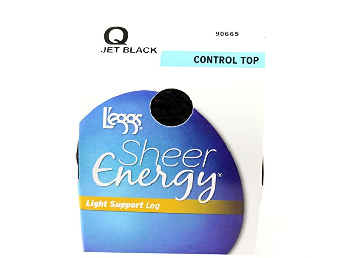 70e76ed6f13 L eggs Sheer Vitality Hosiery  Jet-Black