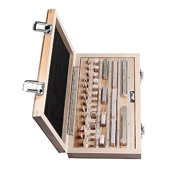 Kalibrierblock aus Stahl f/ür Messschieber//Mikrometer SM SunniMix 87x Messblock hohe Pr/äzision