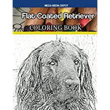 Flat-Coated Retriever Coloring Book