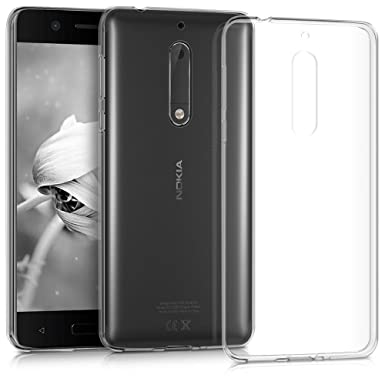 sports shoes 18355 9e519 The Keep Talking Shop Protective Grip Compatible With Nokia 5 Case Crystal  Clear Gel TPU Silicone Slim Soft Flexible Shockproof Design Back Phone ...