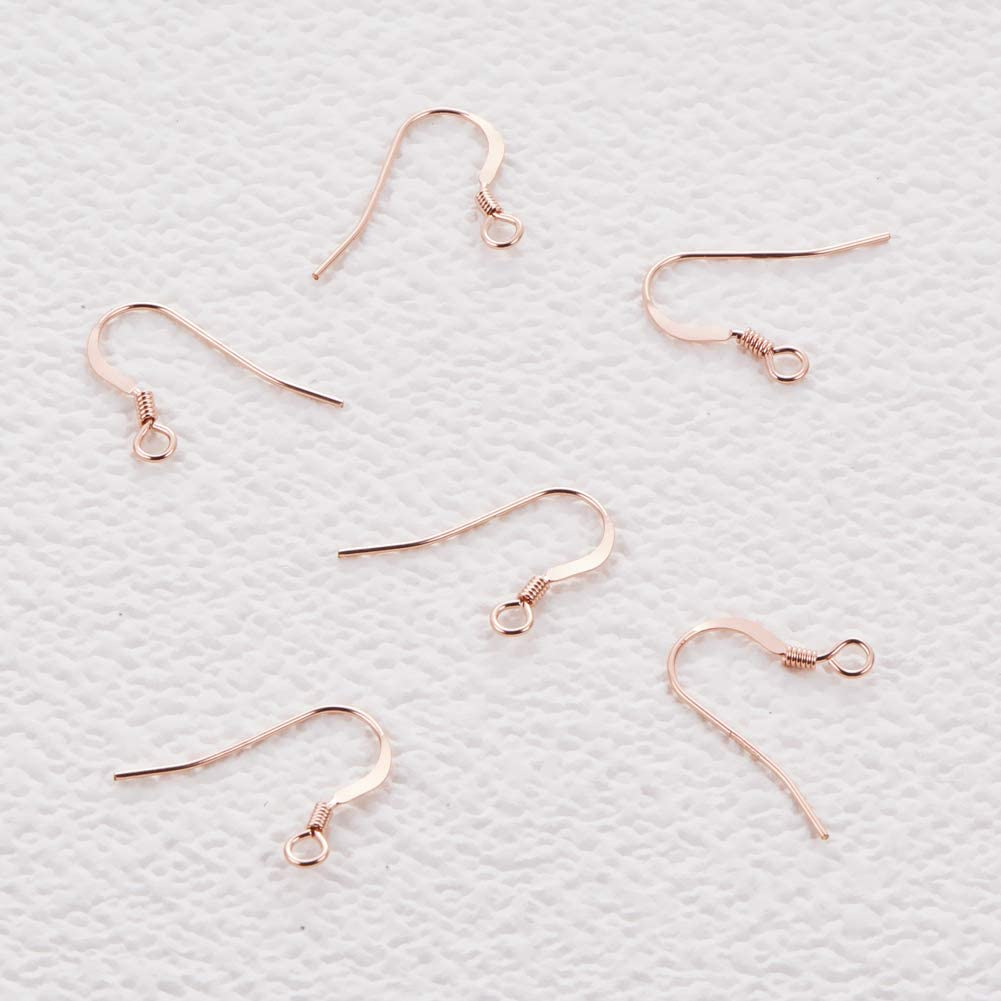 20x Genuine Sterling Silver EARRING HOOK COIL EAR WIRE Earring Findings 14mm