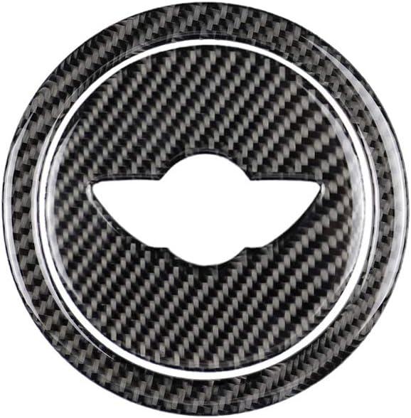 Ajboy As Show 11.9 * 3.1cm Pegatinas para Volante de Coche de Fibra de Carbono para Mini Cooper Clubman R55 R56 R60 R61