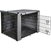 """yotache Dog Crate Cover for 18"""" Small Double Door Wire Dog Cage, Lightweight 600D Polyester Indoor/Outdoor Durable…"""