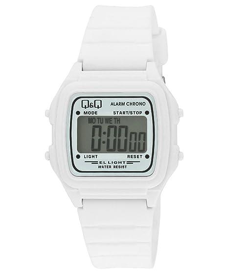 Q&Q L116J005Y - Reloj digital de cuarzo unisex con correa de plástico, color blanco