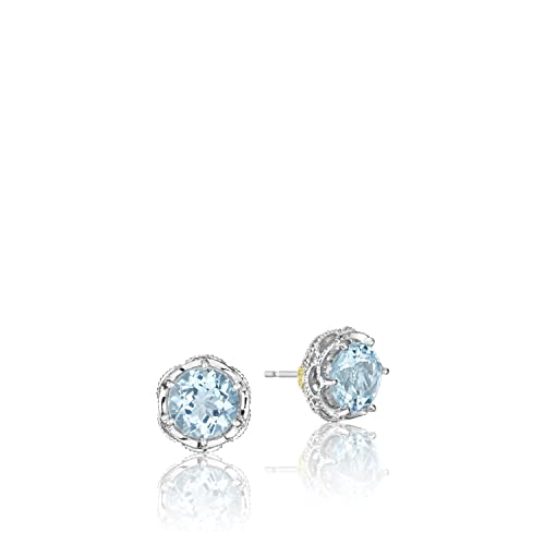 5bcbd7e7f1b43f Image Unavailable. Image not available for. Color: Tacori SE10502 Island  Rains Sterling Silver Sky Blue Topaz Crescent Crown Stud Earrings