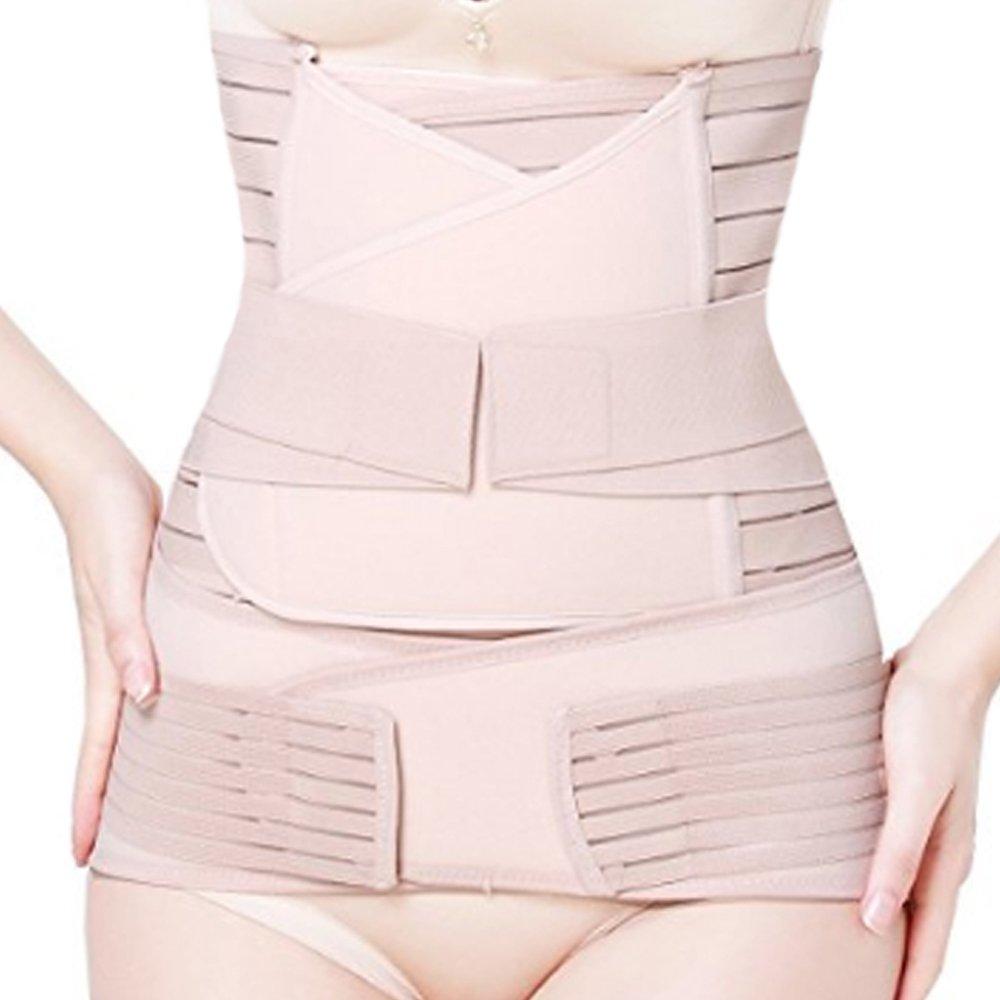 WANYIG Fascia Post Parto Cintura Post Partum Regolabilen Pancia Vita Pelvi Supporto Cintura Traspirante Elastica per Donna Recupero Postpartum