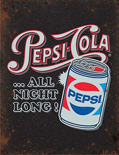 Pepsi Cola All Night Long Cartel de Chapa Placa metal ...