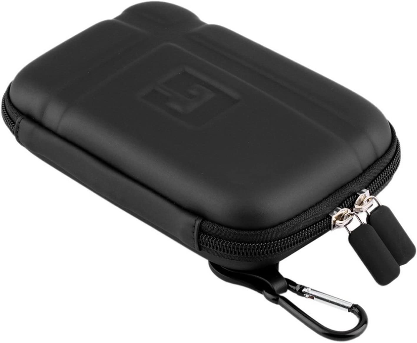 Teaeshop 5 Inch GPS Case Hard Carrying Case Travel Protective Bag GPS Protective Cover Zipper Pouch for 5 5.2 Tomtom Garmin Nuvi Magellan RoadMate Tomtom GPS Devices Black