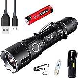 Klarus XT11GT Lampe de poche 2000 Lumens CREE XPH35 HD E4 LED Rechargeable USB Lampe de poche ,Alimenté par 1 * 18650 3100 mAh Batterie