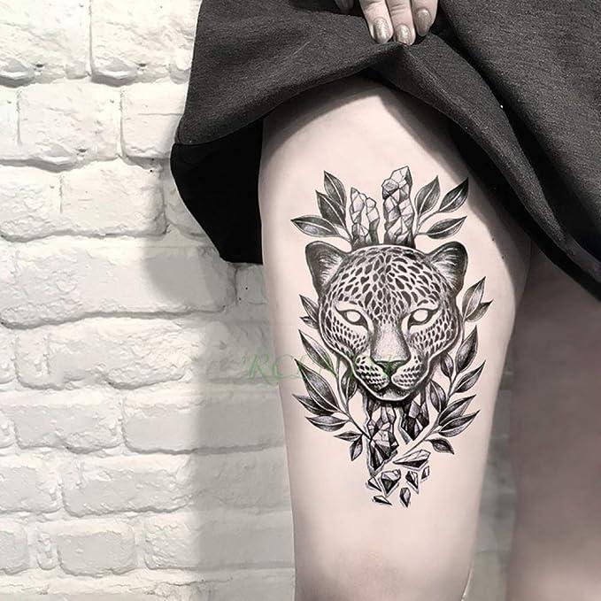 Handaxian 3pcs Pegatinas Tatuaje Impermeable Negro Oscuro Esquina ...