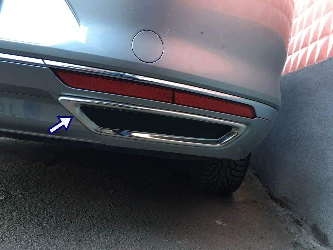 Passat B8 Limousine Edelstahl Chrom Auspuffblende Rahmen 2 St/ück 2014/–2017