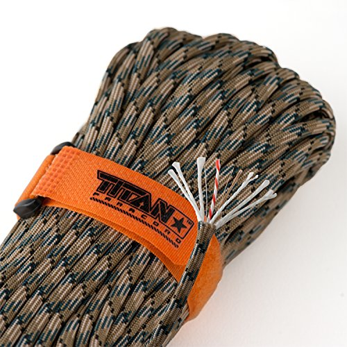 SurvivorCord Paracord Parachute Integrated Fire Starter