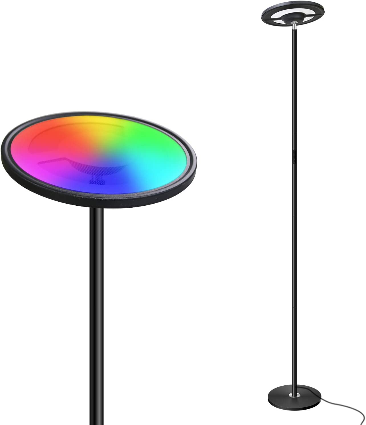 Lifeholder Floor Lamp,Smart WiFi Dimmable Floor Lamp with Touch&APP&Voice Control,LED Floor Lamp Compatible with Alexa Echo&Google Home,RGBW Standing Lamps for Bedroom,Living Room,Office