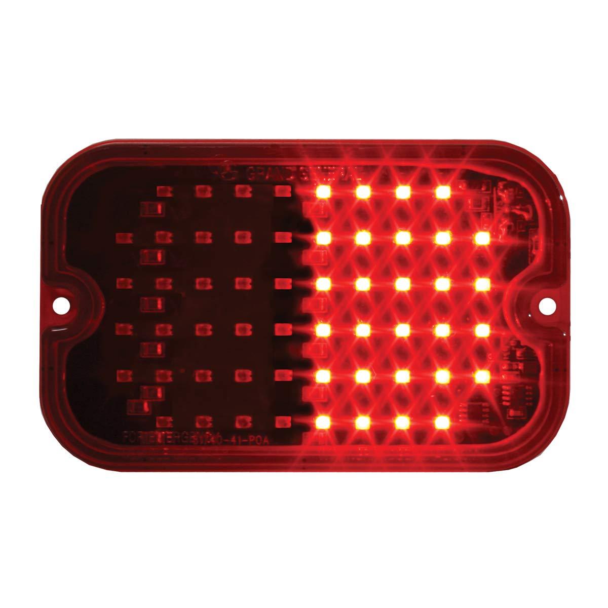 GG Grand General 81745 LED Light (Rectangle Red Multi-Strobe 56, 15 Flash Pattern)