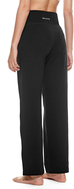 BALEAF Womens 30//32//34 Straight Leg Yoga Pants Sweatpants Workout Lounge Pajama Pants with Back Pocket Regular//Plus Size//Tall