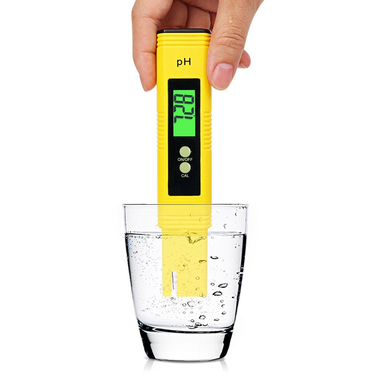youtoo Medidor de pH digital PH Tester PH Medidor con pantalla LCD para Acuario, orina, piscina agua: Amazon.es: Jardín