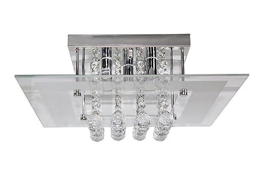 Kronleuchter Deckenleuchte Set : Acelectronic top modern flushmount kristall deckenleuchte
