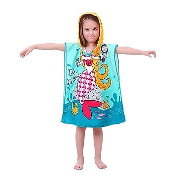 Toallas de con capucha para niños de fibra extrafino Creative Imprima Sección playa piscina toalla: Amazon.es: Hogar