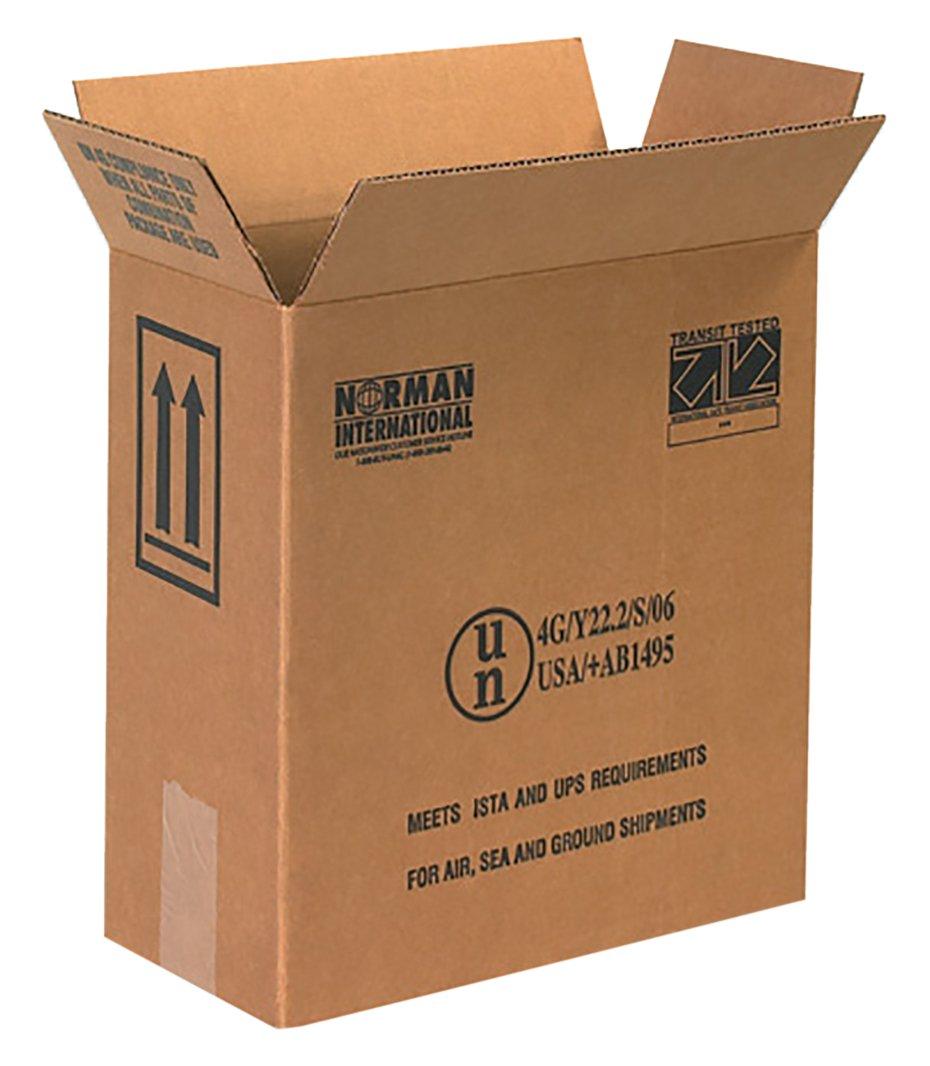 RetailSource B120612HM560 Hazmat Box, 12.75'' Height, 6'' Width, 12'' Length, Brown (Pack of 560)