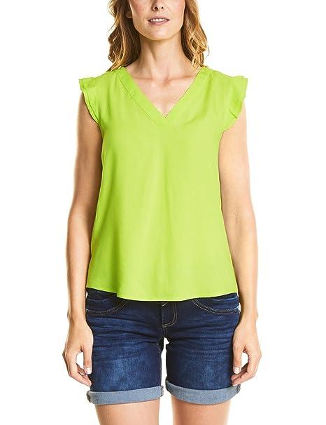 Street One 340952, Blusa para Mujer, Amarillo (Wild Lime 11347), 46(Talla del Fabricante: 44)