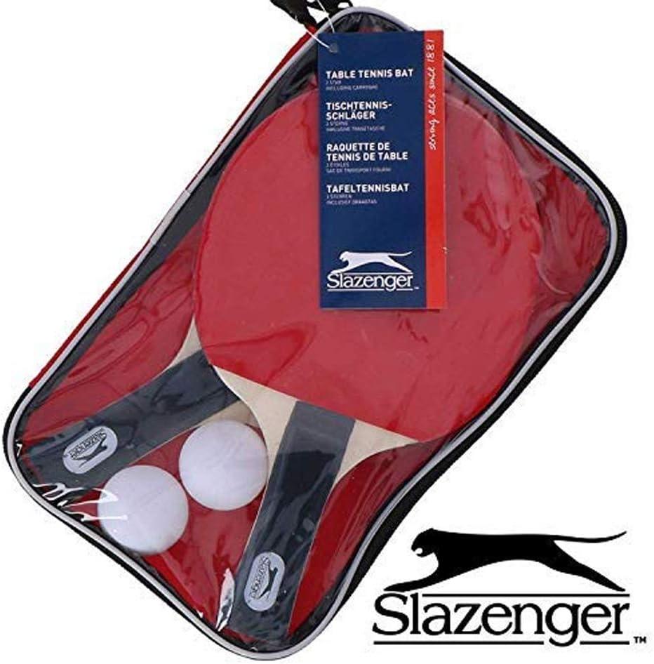 Slazenger Table Tennis Set with 2 Bats,2 Balls & Bag