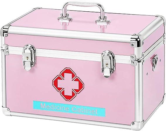 Caja de primeros auxilios, caja de cerradura de combinación para compartimentos de medicamentos Caja de almacenamiento de medicamentos, caja médica de centro comercial para suministros de emergencia: Amazon.es: Hogar