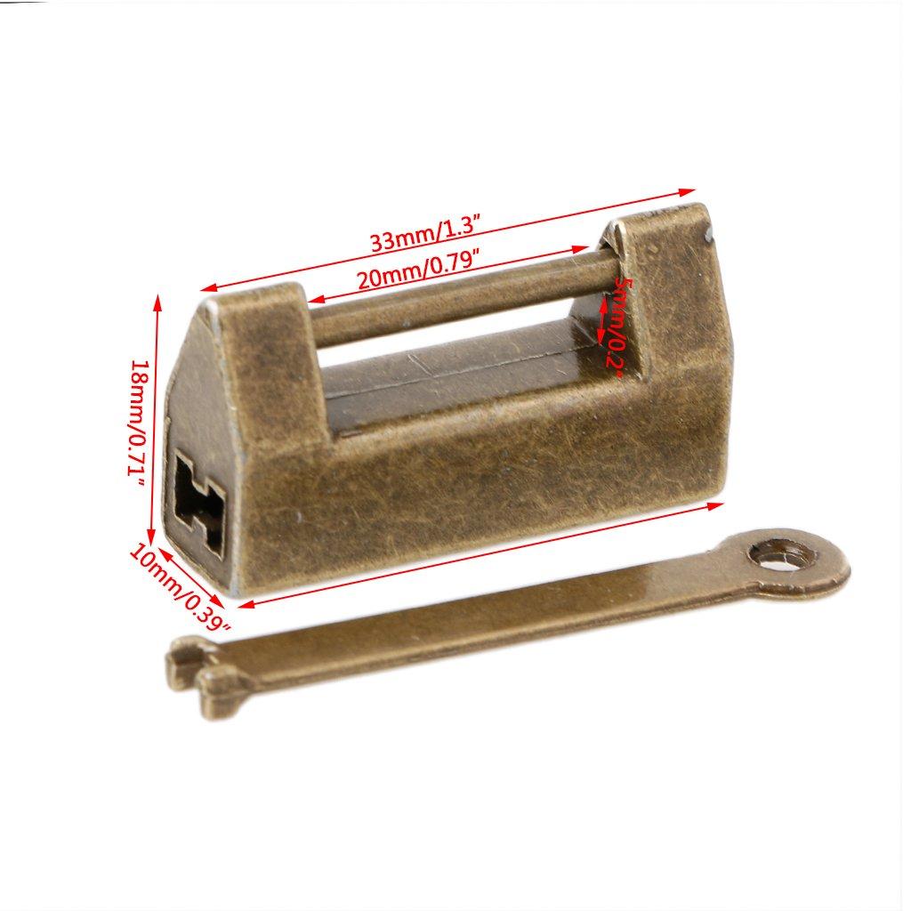 ideal para joyero y otros cajas vintage Candado chino Manyo dise/ño especial 33/x 10/x 18/mm con llave